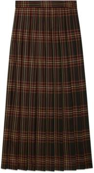 Gucci Tartan wool maxi skirt