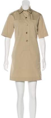 Michael Kors Collared Shift Dress Khaki Collared Shift Dress