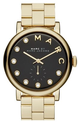 Women's Marc Jacobs Baker Crystal Index Bracelet Watch, 36Mm $250 thestylecure.com