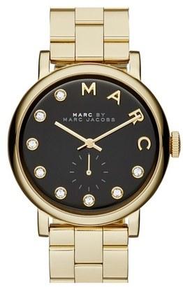 Women's Marc Jacobs Baker Crystal Index Bracelet Watch, 36Mm $250 thestylecure.com