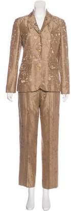 Ralph Rucci Mid-Rise Straight-Leg Pants Suit Tan Ralph Rucci Mid-Rise Straight-Leg Pants Suit