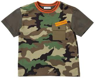 Dolce & Gabbana Camouflage Cotton Jersey T-Shirt