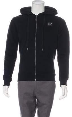 Philipp Plein Captain America Hooded Zip-Up Sweater black Captain America Hooded Zip-Up Sweater