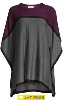 Calvin Klein Colorblock Dolman-Sleeve Poncho