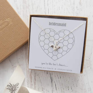 Bees Knees Wedding in a Teacup 'The Bee's Knees' Silver Necklace