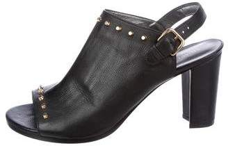 Stuart Weitzman Leather Studded Booties