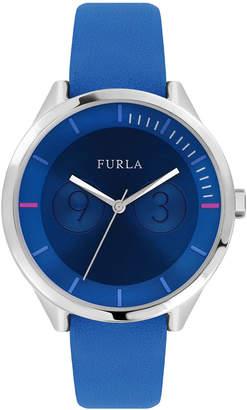 Furla 31mm Metropolis Leather Watch, Blue