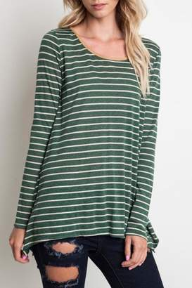 Umgee USA Striped Long-Sleeve Top