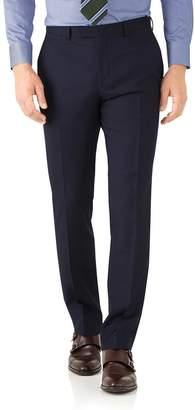 Charles Tyrwhitt Navy Classic Fit Herringbone Italian Suit Wool Pants Size W36 L32