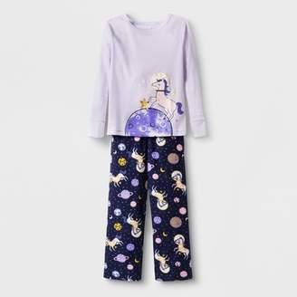 Cat & Jack Toddlers' 2pc Unicorn Pajama Set Purple