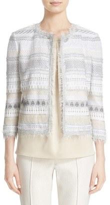 Women's St. John Collection Merengue Knit Jacket $1,895 thestylecure.com