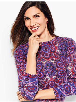 Talbots Audrey Cashmere Sweater - Paisley