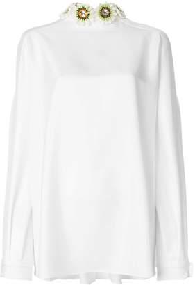 Talbot Runhof embellished blouse