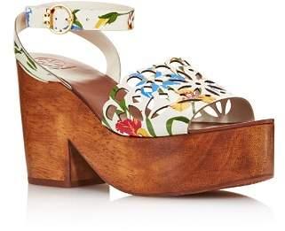 Tory Burch Women's May Leather Platform Block Heel Sandals - 100% Exclusive