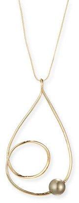 Alexis Bittar Coiled Teardrop Pendant Necklace $195 thestylecure.com