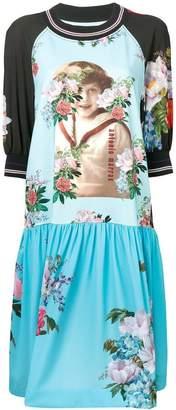 Antonio Marras floral graphic panelled dress