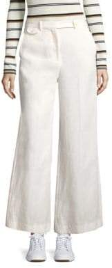 Theory Nadeema Flared Linen Pants