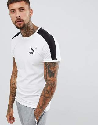 Puma T7 Muscle Fit T-Shirt In White 57635202