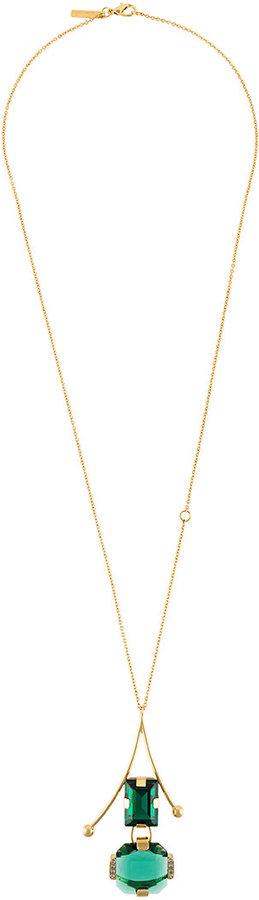 MarniMarni glass stone statement necklace