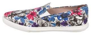 Miu Miu Floral Slip-On Sneakers