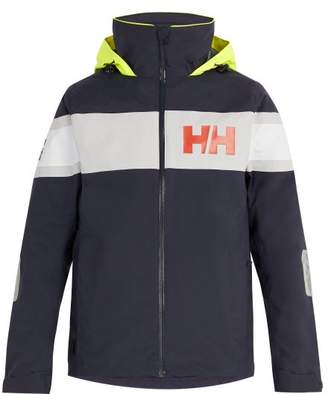 Helly Hansen Salt Flag Hooded Jacket - Mens - Navy Multi