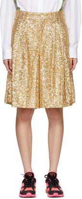 Comme des Garcons Gold Sequin Shorts