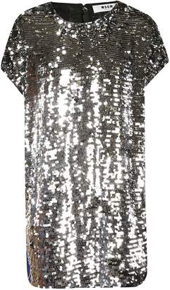 MSGM Sequin Embellished Dress