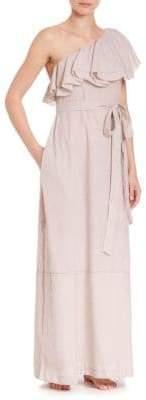 Lisa Marie Fernandez Arden Sheer Flounce Dress Coverup