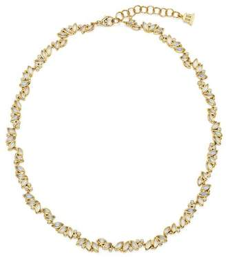 """Temple St. Clair 18K Yellow Gold Moonstone and Diamond Cluster Necklace, 18"""""""