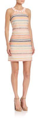 Trina Turk Aptos Jacquard Beaded Neck Dress $388 thestylecure.com