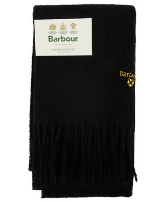 Barbour Plain Lambswool Scarf Colour: BLACK, Size: One Size
