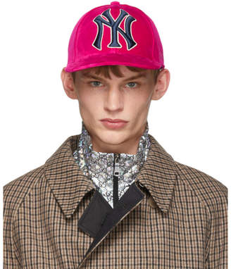 7c0a62b0dd2 Gucci Pink NY Yankees Edition Velvet Cap