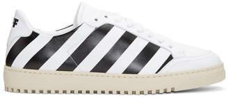 Off-White White Diagonal Sneakers