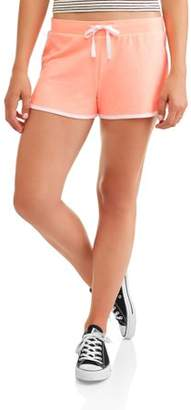 No Boundaries Juniors Basic Knit Shorts with Tie-Front