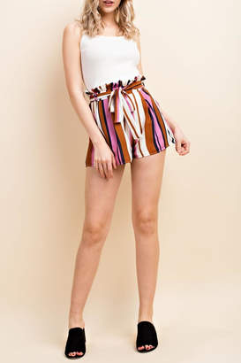 Wild Honey Colorful Stripe Shorts