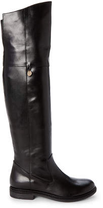 Patrizia Pepe Toddler/Kids Girls) Black Leather Over-the-Knee Boots