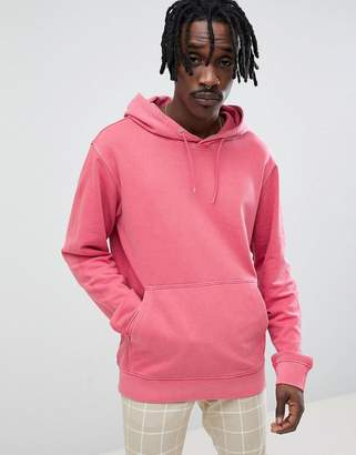 Weekday Hawk Washed Hoodie Pink