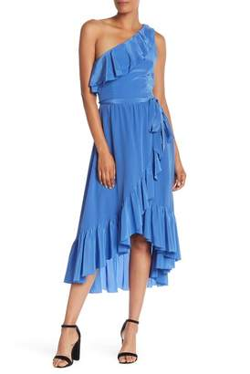 Joie One Shoulder Ruffle Hi-Lo Dress