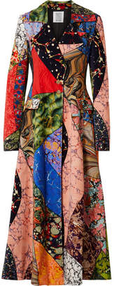 Rosie Assoulin Printed Cotton-velvet Coat - Red