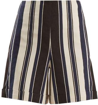 ZEUS + DIONE Petra striped silk-blend shorts