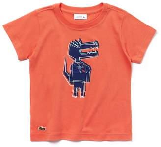 Lacoste Boys' Crew Neck Crocodile Print T-shirt