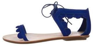 Loeffler Randall Suede Ankle Strap Sandals