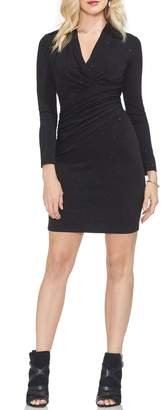 Vince Camuto Wrap Front Sparkle Body-Con Dress