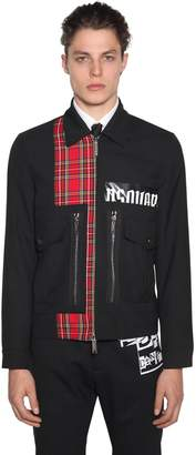 DSQUARED2 Zip-Up Wool Blend Jacket