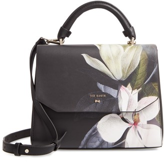 Ted Baker Adeliah Opal Floral Print Faux Leather Top Handle Bag