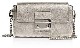 Karen Millen Medium Metallic Leather Box Crossbody