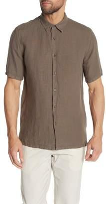 Theory Irving Trim Fit Linen Short Sleeve Sport Shirt