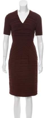 Burberry Pleated Midi Dress Brown Pleated Midi Dress