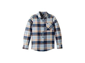 Volcom Caden Plaid Long Sleeve Flannel Shirt (Big Kids)