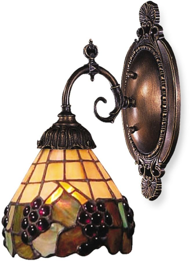 Bed Bath & Beyond ELK Lighting 1-Light Mix-N-Match Sconce in Grape Trellis